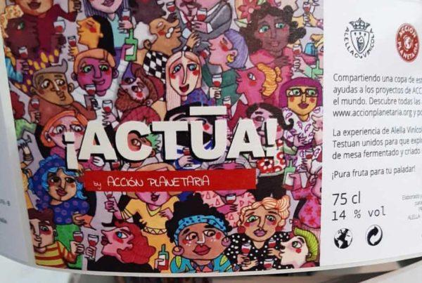 Vino solidario Actúa - Acción Planetaria