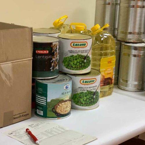 Acción Planetaria recogida alimentos